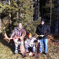 Various views of the Moose hunting with North Point Outfitters Inc.